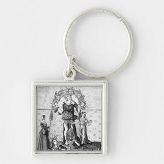 A imagem da dama Astrologia com os três Chaveiro