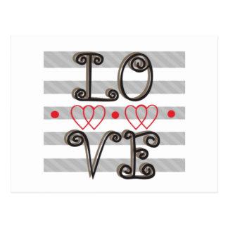 A infinidade do amor cronometra a infinidade do cartão postal