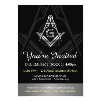 A instalação anual maçónica do convite dos
