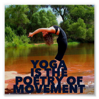 A ioga é a poesia do movimento - poster da ioga pôster