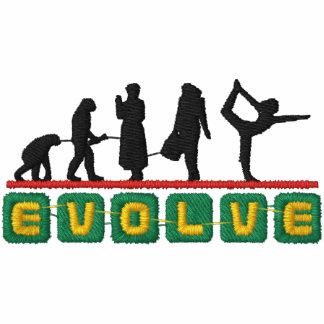 A ioga evolui a camisa longa da luva das mulheres
