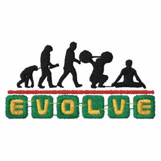 A ioga evolui o t-shirt dos homens bordados