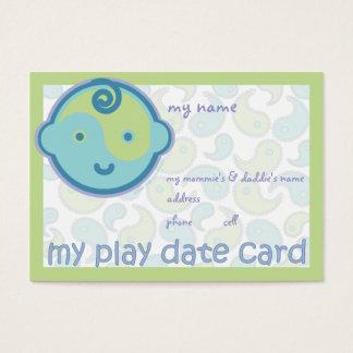 A ioga fala o bebê: Cartão de data do jogo
