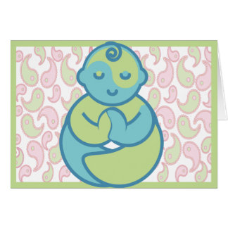 A ioga fala o bebê: Cartão do vazio do bebê da