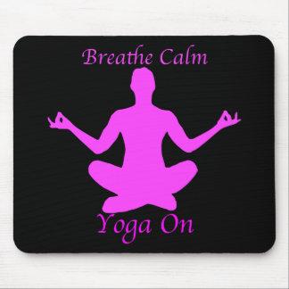 A ioga Mousepad respira a calma
