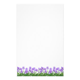 A íris roxa minúscula floresce artigos de papelari papelaria personalizada