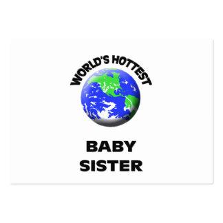 A irmã a mais quente do bebê do mundo modelos cartoes de visita