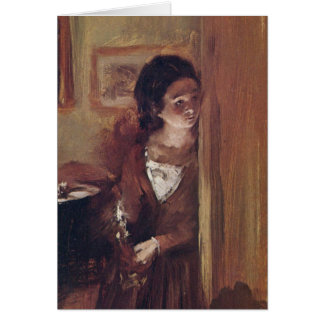 A irmã do artista da sala de visitas - Adolph Von Cartões