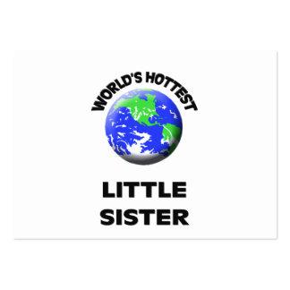 A irmã mais nova a mais quente do mundo modelos cartoes de visitas