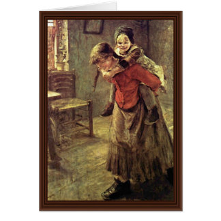 A irmã mais velha por Fritz Von Uhde Cartões