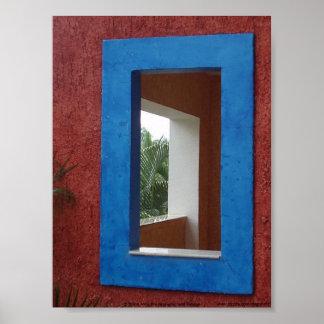 A janela no Maya de Riviera, México Pôster