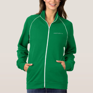 A jaqueta das mulheres com encanamento - verde