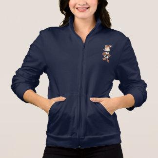 A jaqueta das mulheres com taekwon-faz desenhos