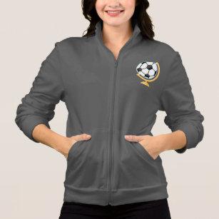 ecafab649b A jaqueta das mulheres do globo da bola de futebol