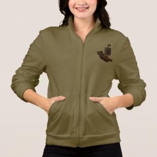 A jaqueta das mulheres do navio de pirata jaqueta com estampa