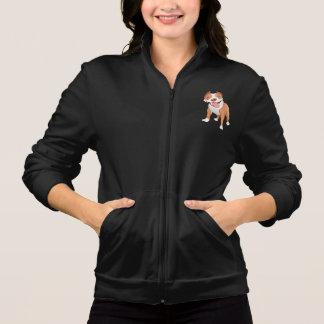 A jaqueta das mulheres do pitbull jaqueta com estampa