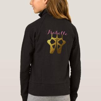 A jaqueta do balé da dança com nome & o dançarino