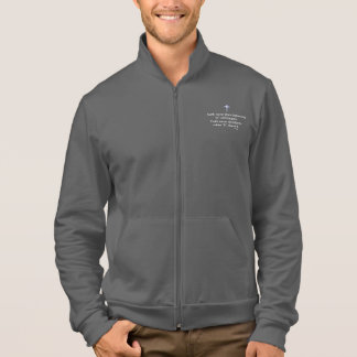 A jaqueta nunca masculina w/Blue do movimento da