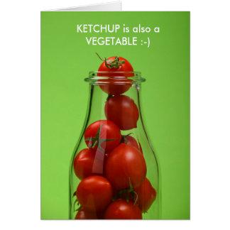 A ketchup é igualmente um cartão vegetal