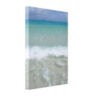 A lagoa azul impressão em tela