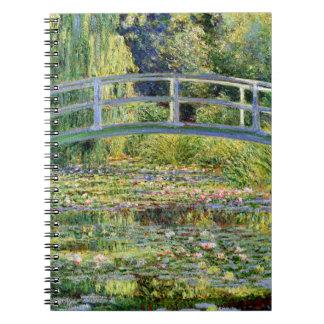 A lagoa do Água-Lírio por belas artes de Monet Cadernos Espiral