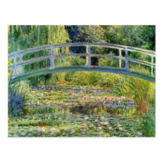 A lagoa do Água-Lírio por belas artes de Monet Cartão Postal
