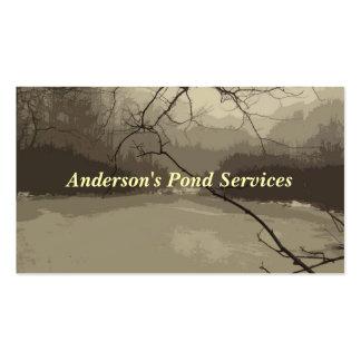 A lagoa presta serviços de manutenção ao cartão de cartão de visita