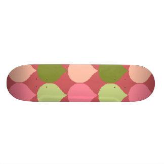 A lágrima geométrica verde cor-de-rosa de Ikat Skate Personalizado