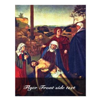 A lamentação do cristo por Christus Petrus Modelos De Panfleto