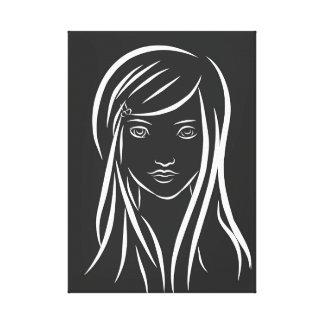 A lápis canvas da menina do desenho