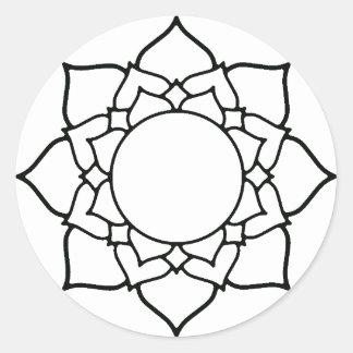 A lápis desenho da mandala da flor de Lotus Adesivo