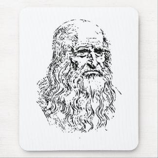 A lápis desenho de Leonardo da Vinci Mouse Pad