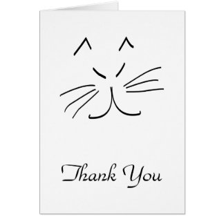 A lápis desenho de uns cartões de agradecimentos