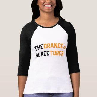 A laranja & a camisa do basebol de Blacktober