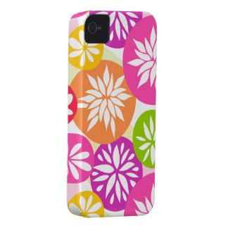 A laranja cor-de-rosa bonito floresce a caixa capinha iPhone 4
