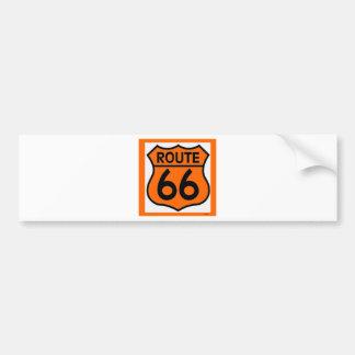 a laranja da segurança da rota 66 personaliza esta adesivo para carro