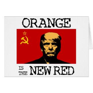 A laranja é o vermelho novo cartão comemorativo