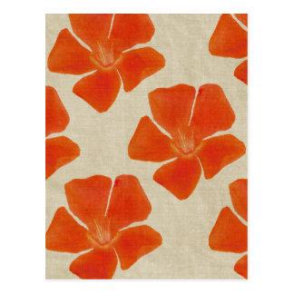 A laranja floresce o cartão
