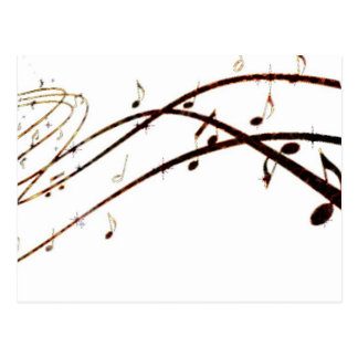 A lava musical nota produtos cartão postal