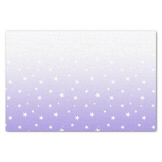 A lavanda de Ombre Stars o lenço de papel