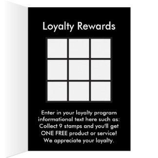 a lealdade do logotipo recompensa o cartão