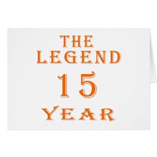 A legenda 15 anos cartões