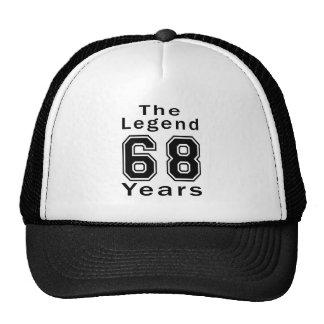 A legenda 68 anos de presentes de aniversário bones