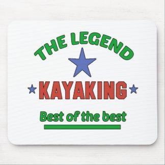 A legenda de Kayaking Mouse Pad