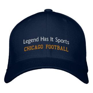 A legenda tem o ostenta/futebol de Chicago Boné Bordado