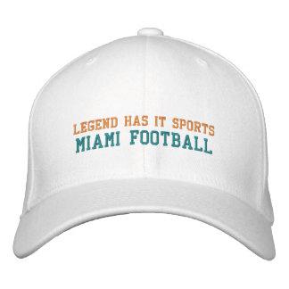 A legenda tem o ostenta/futebol de Miami Boné Bordado