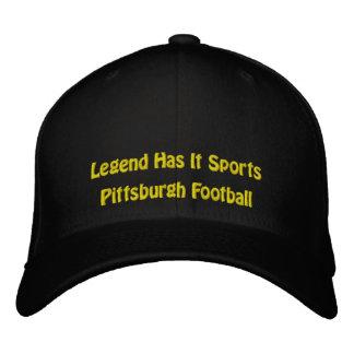 A legenda tem o ostenta/futebol de Pittsburgh Boné Bordado