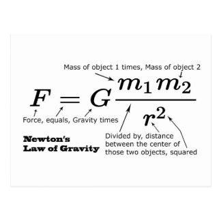 A lei de Newton da gravitação universal Cartão Postal