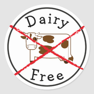 A leiteria não livra nenhum leite nenhuma etiqueta adesivo redondo