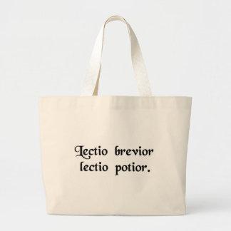 A leitura a mais curta é a leitura mais provável bolsas para compras